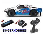 Associated 1/10 ProSC RC 4WD SCT Brushless RTR LiPo Combo White ASC7063CT2 HH