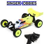 LOSI 1/16 Mini-B Brushed RTR 2WD Radio Control Buggy Yellow/White LOS01016T3 HH