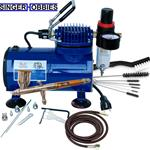 Paasche Airbrush & Compressor Package: TG3F, D500SR, & AC7 PASTG100D HH