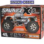 HPI 1/8 SAVAGE X 4.6 Big Block RTR 4X4 2.4Ghz Nitro Monster Truck HPI109083 HRP