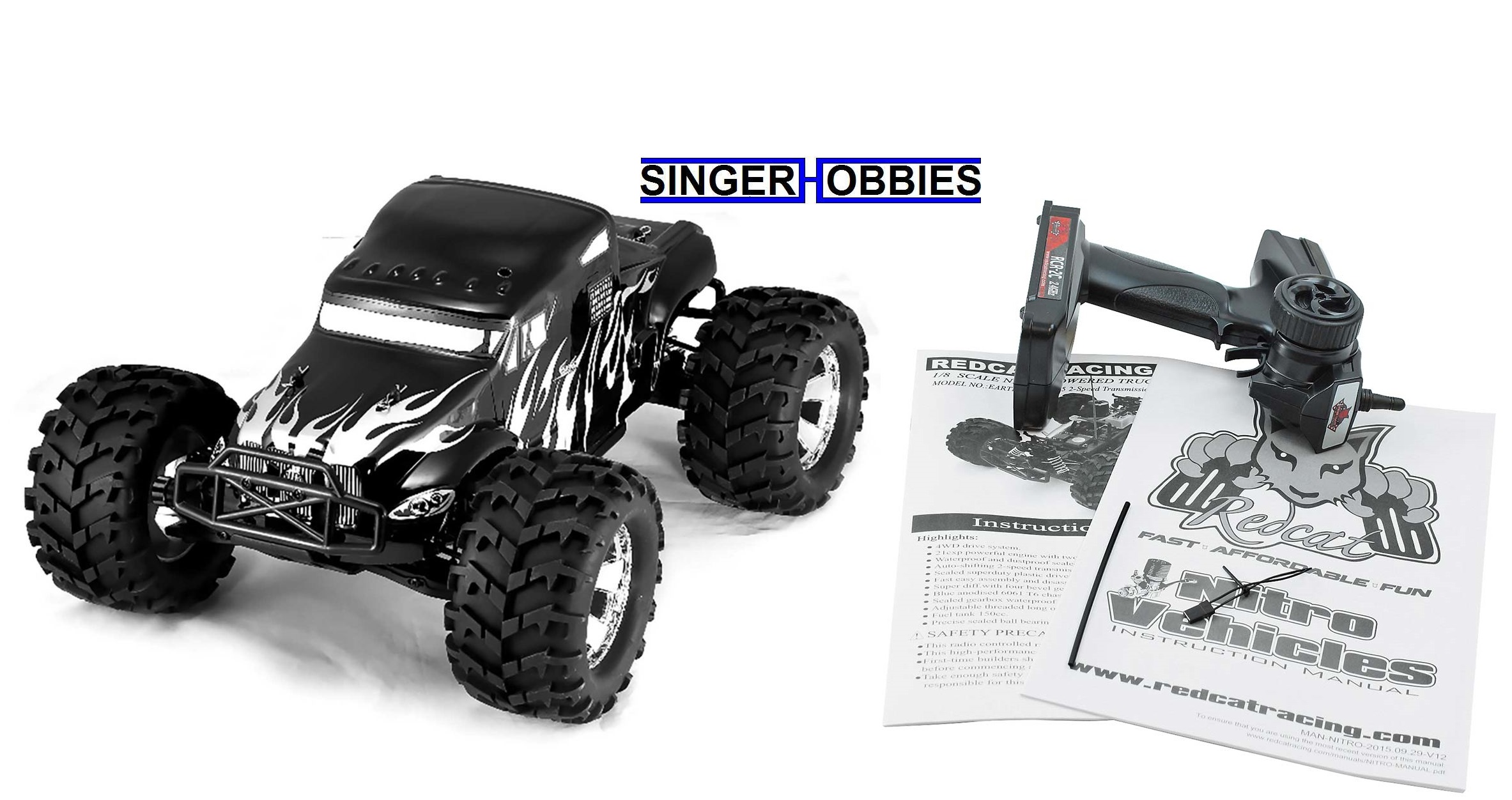 RedCat Racing 1/8 Earthquake 3 5 4WD Monster Truck Nitro RTR