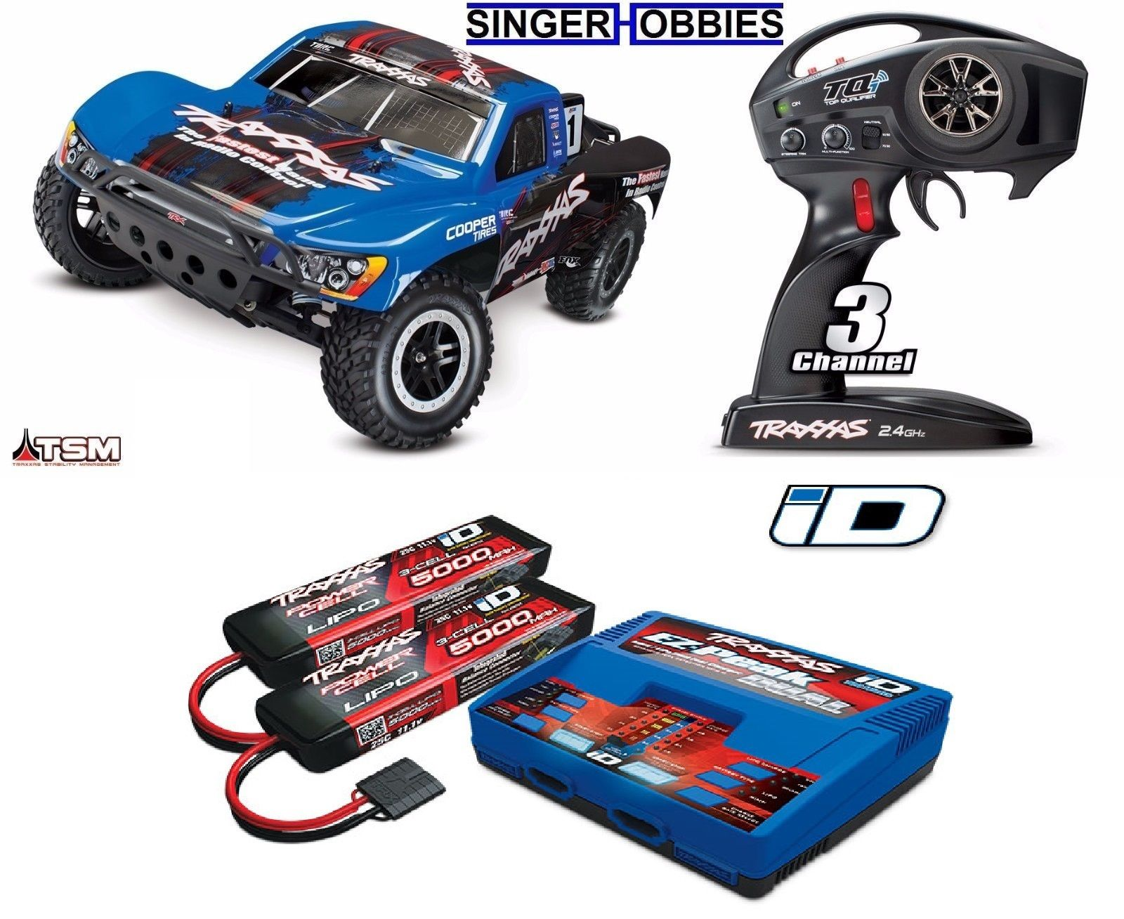 Traxxas 680864 1 10 Slash 4wd Brushless Sc Rtr R C Truck W Lipo Scale Pro 2wd Short Course Race 58034 Tra680864d3l Hh
